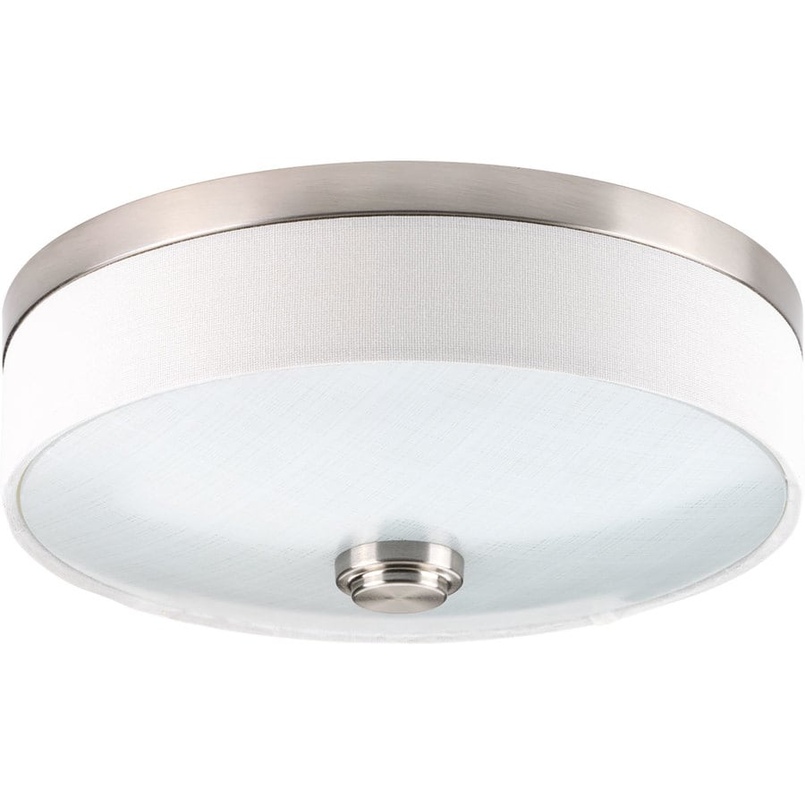 Progress Lighting Weaver LED 10-in W Brushed nickel LED Flush Mount Light ENERGY STAR