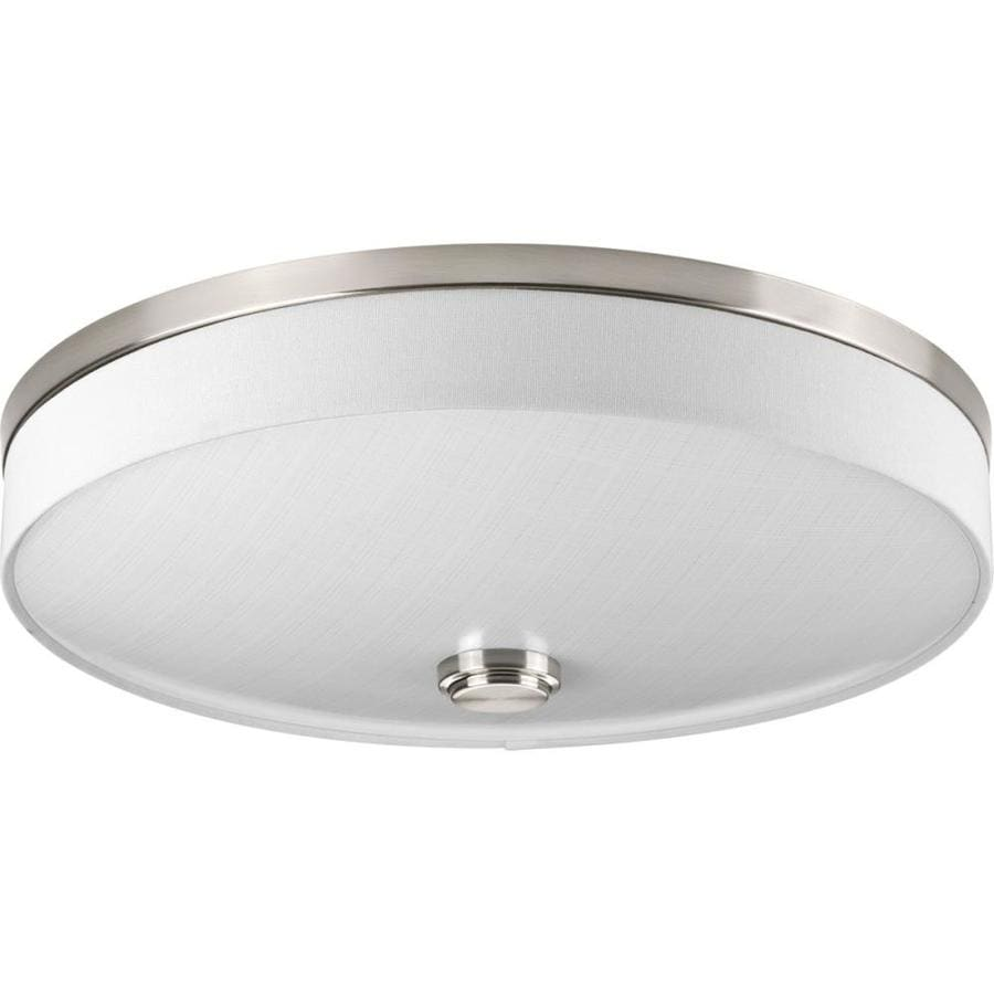 Progress Lighting Weaver LED 16-in W Brushed Nickel LED Flush Mount Light ENERGY STAR