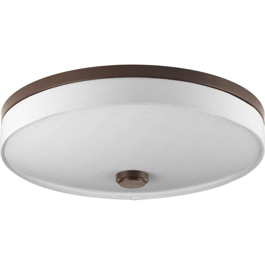 Progress Lighting Weaver Led 16-in W Antique Bronze LED Flush Mount Light
