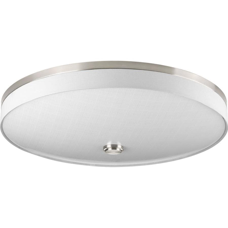 Progress Lighting Weaver Led 22-in W Brushed Nickel LED Flush Mount Light