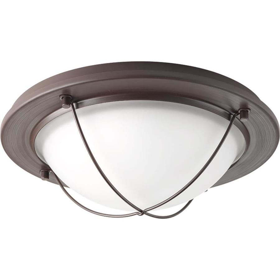 Progress Lighting Portal LED 11-in W Antique bronze LED Flush Mount Light ENERGY STAR