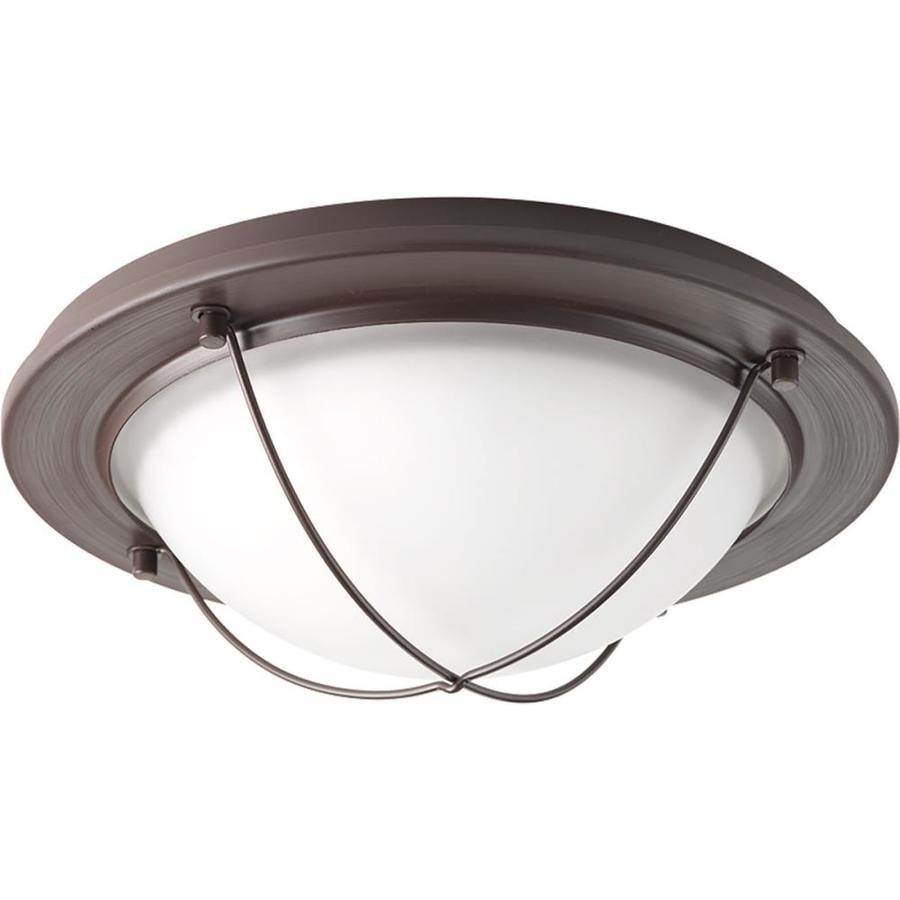 Progress Lighting Portal Led 11-in W Antique Bronze Integrated Flush Mount Light