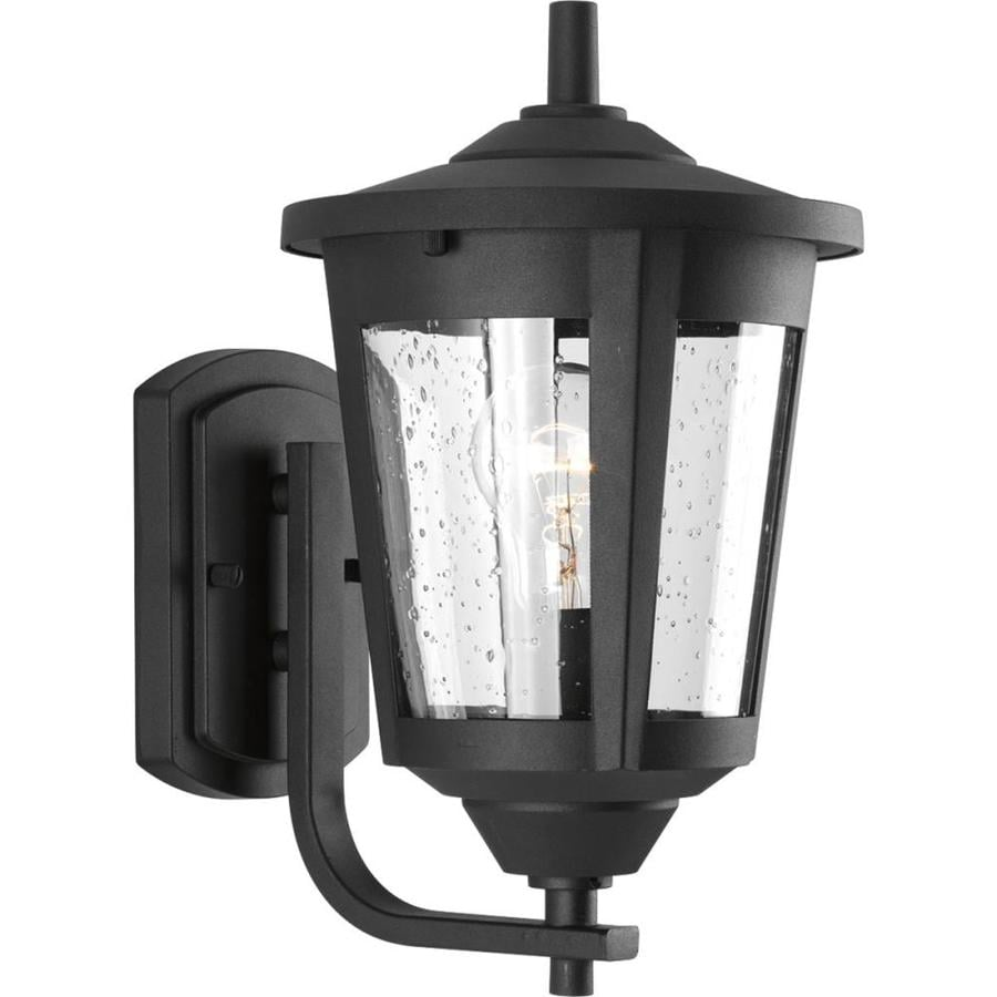Progress Lighting East Haven 12.75-in H Black Outdoor Wall Light