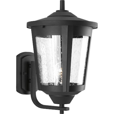 East Haven 15 125 In H Black Medium Base E 26 Outdoor Wall Light