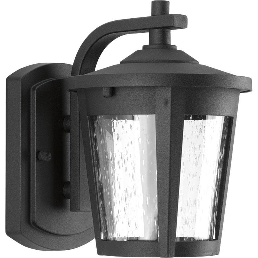 Progress Lighting East Haven Led 7.875-in H Led Black Outdoor Wall Light ENERGY STAR