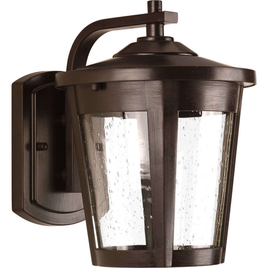 Progress Lighting East Haven Led 9.75-in H Led Antique Bronze Outdoor Wall Light ENERGY STAR