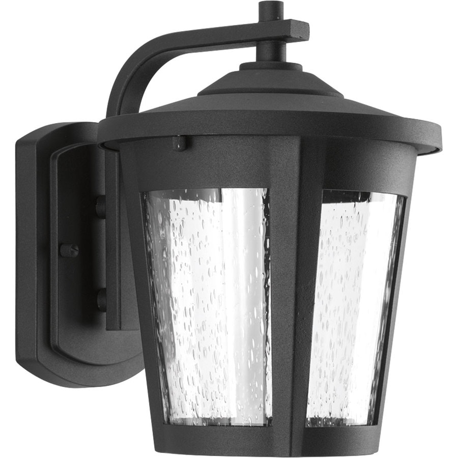 Progress Lighting East Haven Led 9.75-in H Led Black Outdoor Wall Light ENERGY STAR