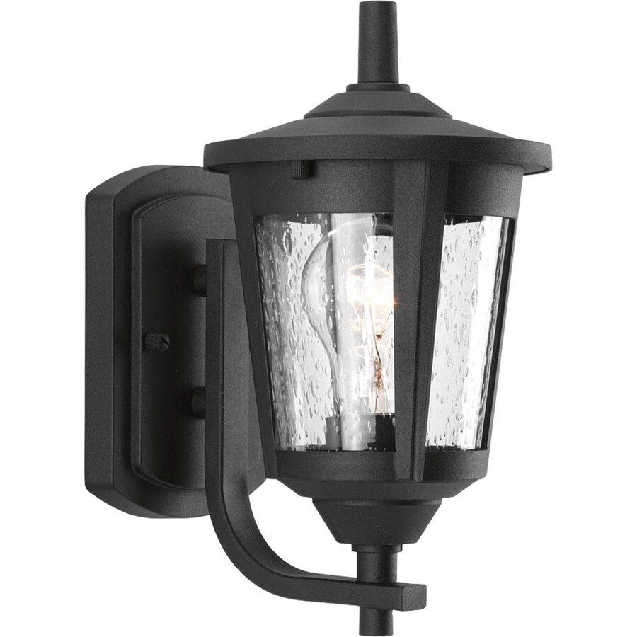 Progress Lighting East Haven 10.375-in H Black Outdoor Wall Light