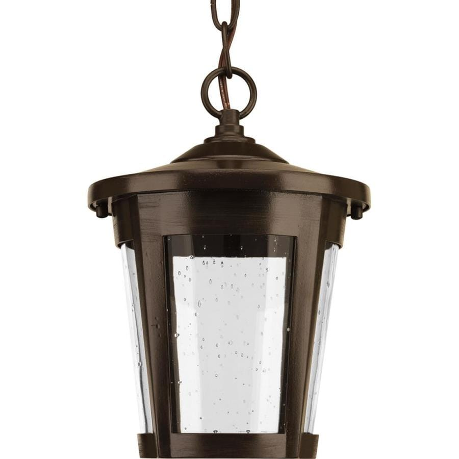 Progress Lighting East Haven Led 10.375-in Antique Bronze Outdoor Pendant Light ENERGY STAR