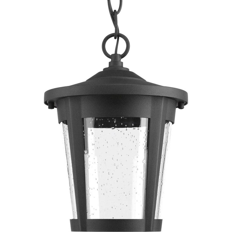 Progress Lighting East Haven Led 10.375-in Black Outdoor Pendant Light ENERGY STAR