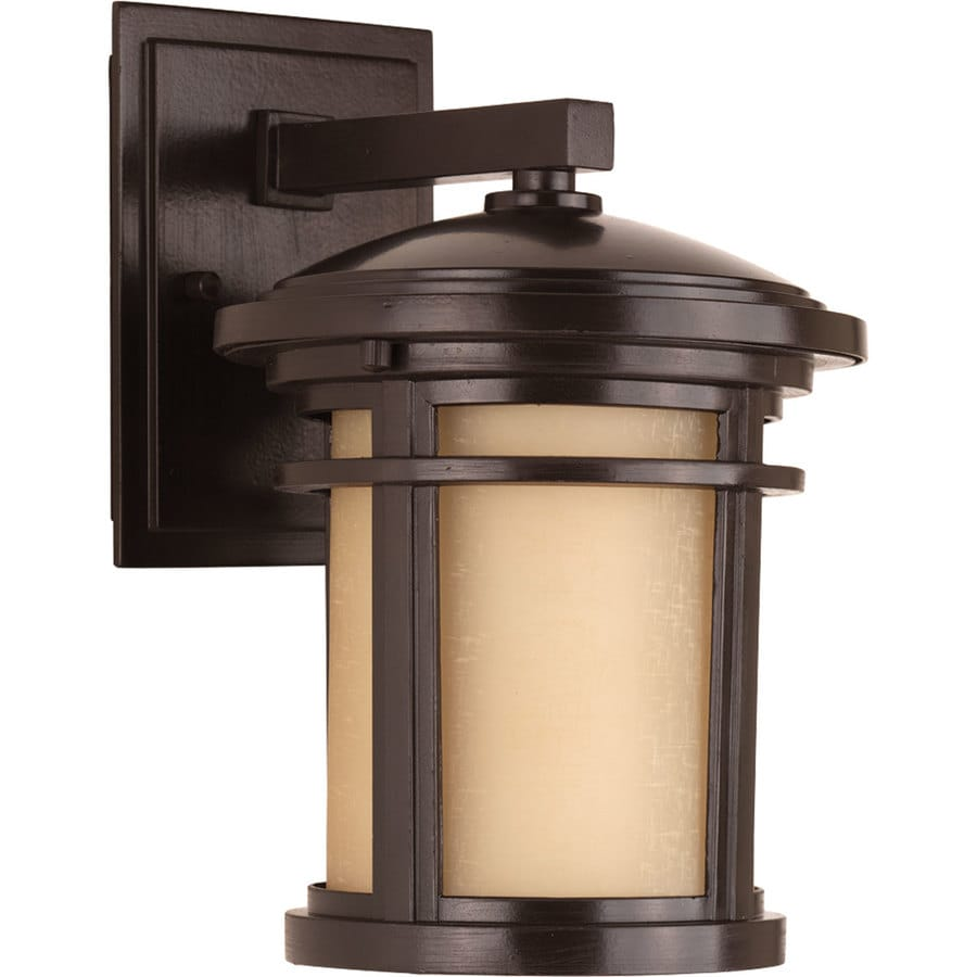 Progress Lighting Wish Led 10.375-in H Led Antique Bronze Dark Sky Outdoor Wall Light ENERGY STAR