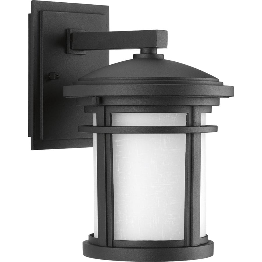 Progress Lighting Wish 10.375-in H Black Dark Sky Outdoor Wall Light