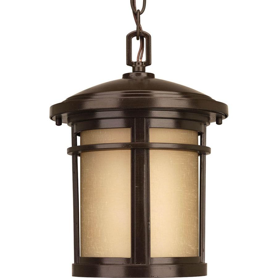 Progress Lighting Wish Led 12.5-in Antique Bronze Outdoor Pendant Light ENERGY STAR