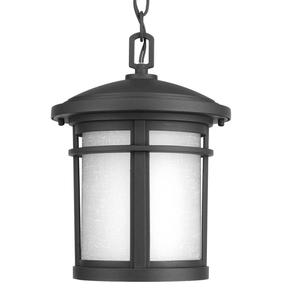 Shop progress lighting wish 12 5 in black outdoor pendant Outdoor pendant lighting