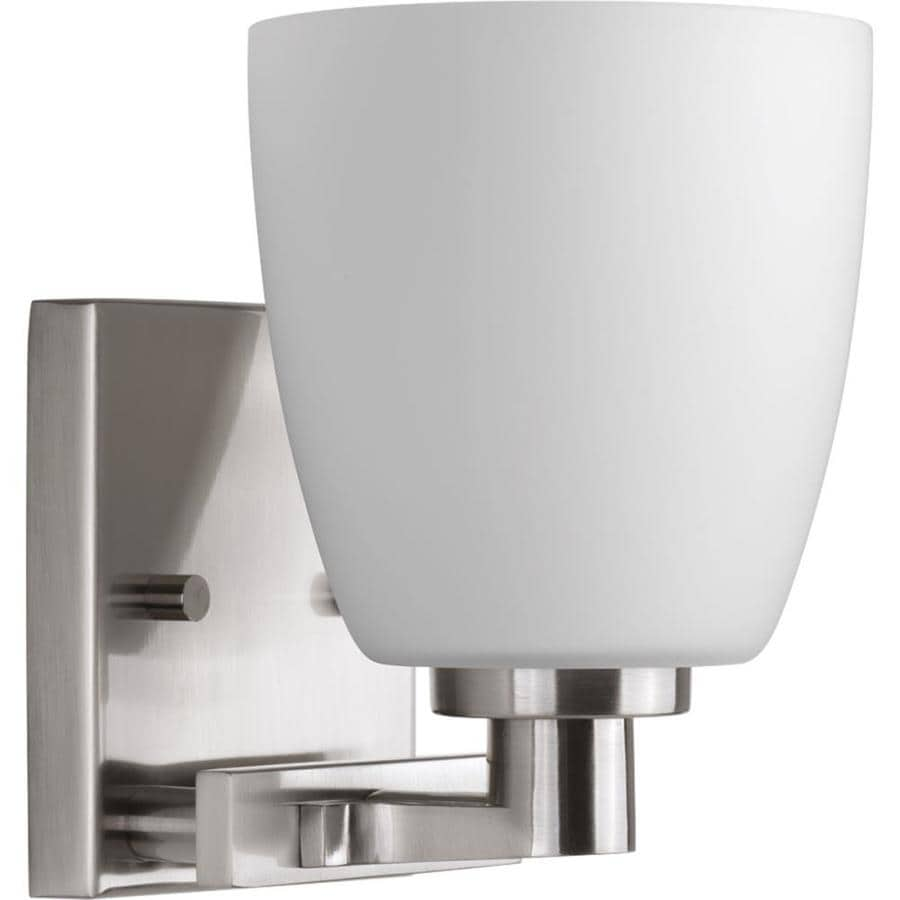 Progress Lighting Fleet 1-Light 7.25-in Brushed Nickel Bell Vanity Light