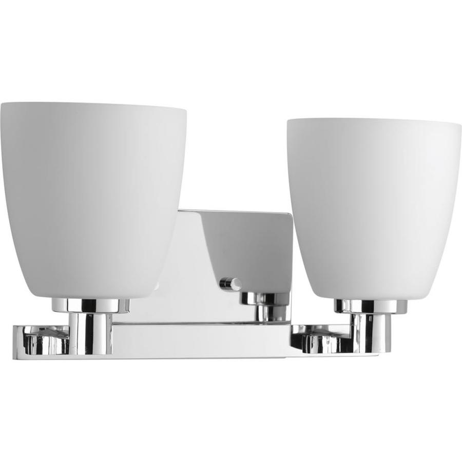Progress Lighting Fleet 2-Light 7.25-in Polished Chrome Bell Vanity Light