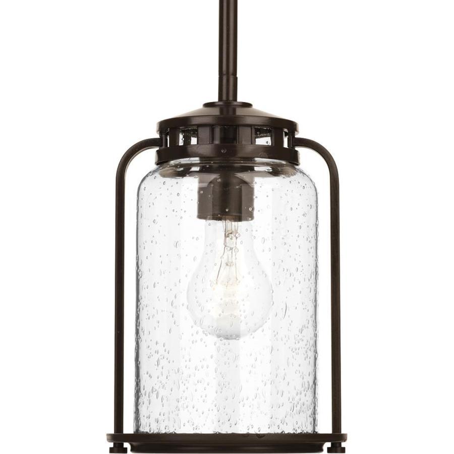 Progress Lighting Botta 9.75-in Antique Bronze Outdoor Pendant Light