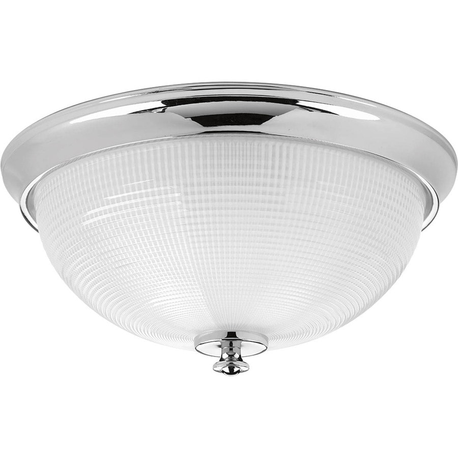 Progress Lighting Lucky 15-in W Polished Chrome Standard Flush Mount Light