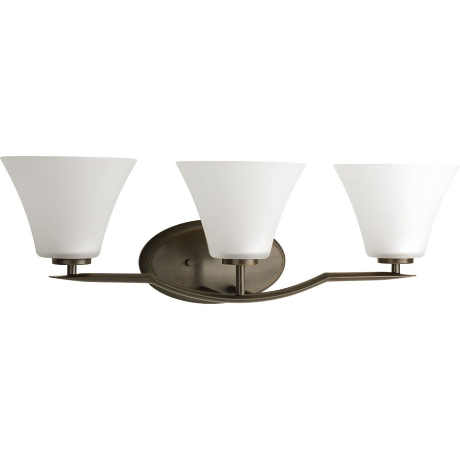 Progress Lighting Bravo 3-Light Antique Bronze Bell Vanity Light