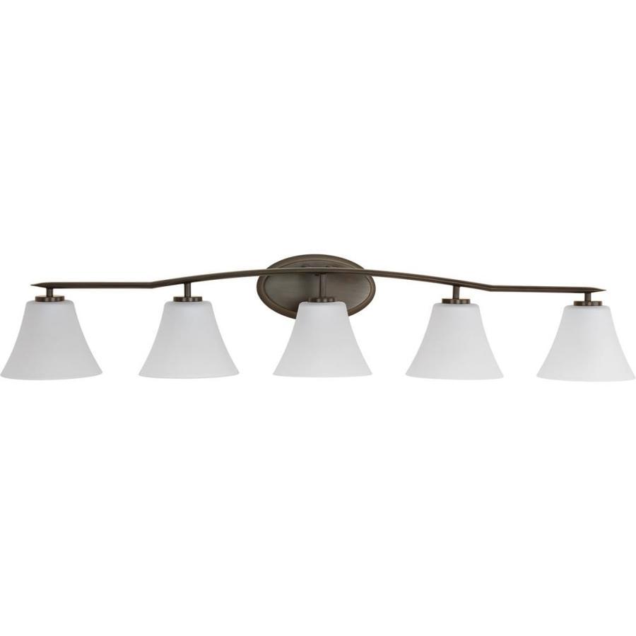 Progress Lighting Bravo 5-Light 8.875-in Antique Bronze Bell Vanity Light