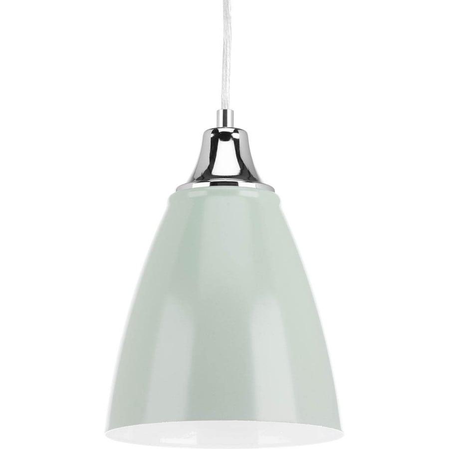 Progress Lighting Pure 6.5-in Pistachio Mini Bell LED Pendant