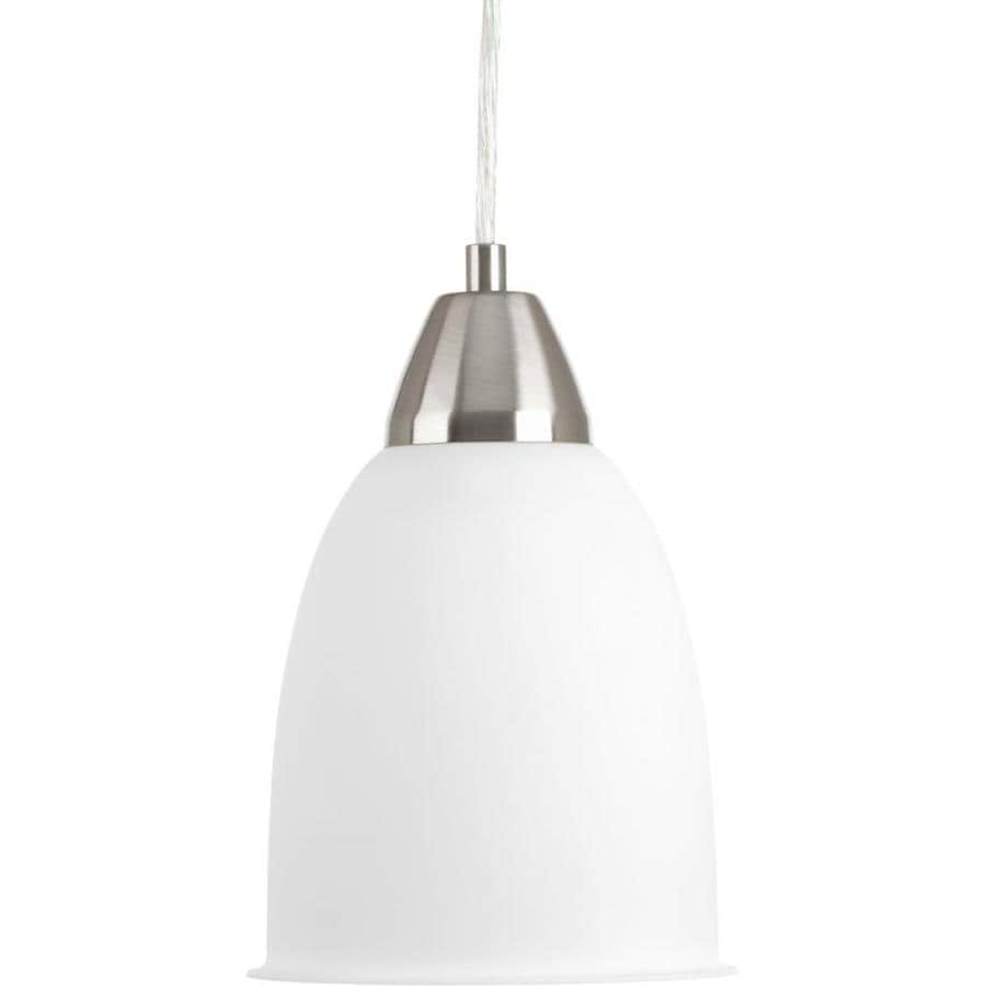 Progress Lighting Simple 5.875-in Brushed Nickel Mini Bell LED Pendant