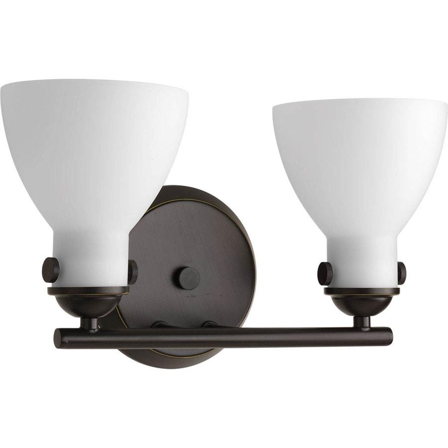 Progress Lighting Fuller 2-Light 8.625-in Antique Bronze Bell Vanity Light