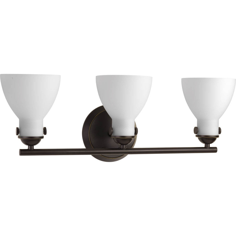 Progress Lighting Fuller 3-Light 8.625-in Antique Bronze Bell Vanity Light