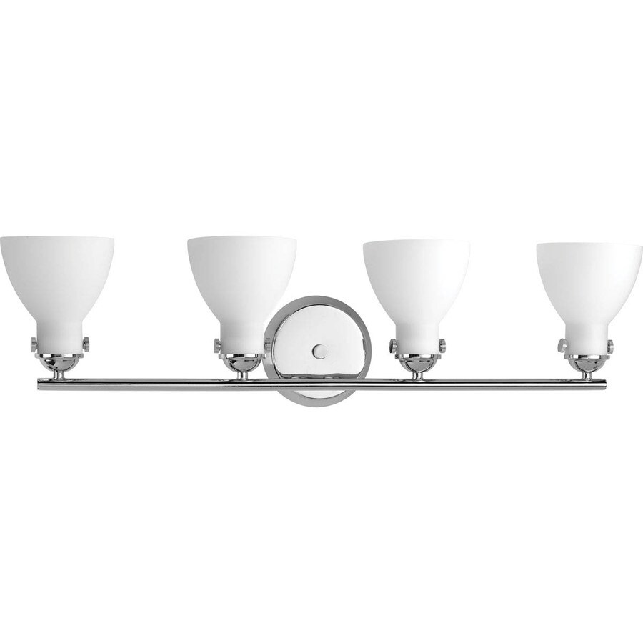 Progress Lighting Fuller 4-Light 8.625-in Polished Chrome Bell Vanity Light
