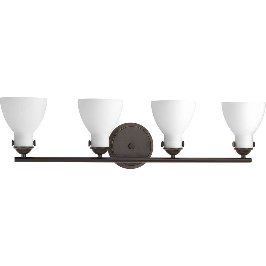 Progress Lighting Fuller 4-Light Antique Bronze Bell Vanity Light