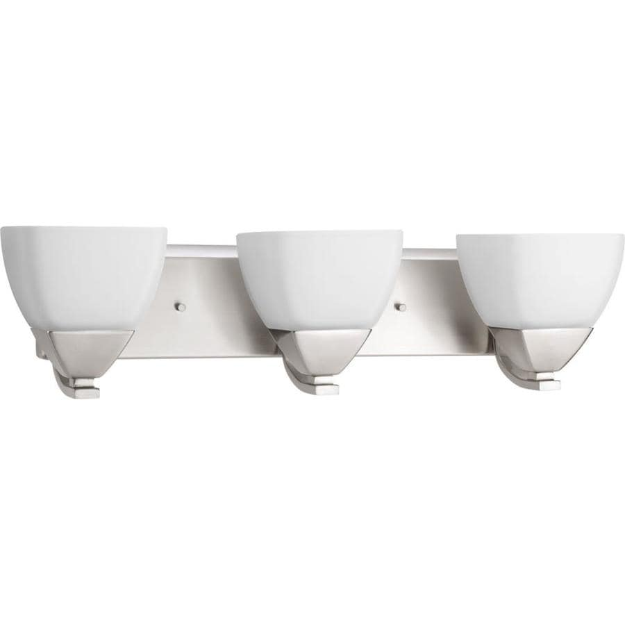 Progress Lighting Appeal 3-Light 6.25-in Brushed nickel Bell Vanity Light