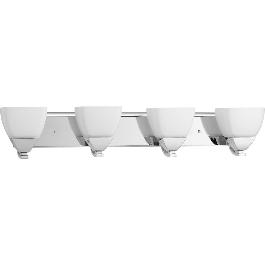 Shop Progress Lighting Appeal 4-Light 6.25-in Polished Chrome Bell Vanity Light at Lowes.com