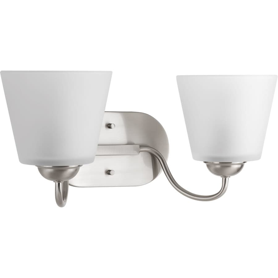 Progress Lighting Arden 2-Light 7.5-in Brushed Nickel Bell Vanity Light