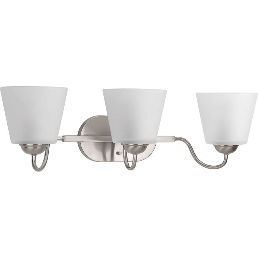 Progress Lighting Arden 3-Light 7.5-in Brushed Nickel Bell Vanity Light