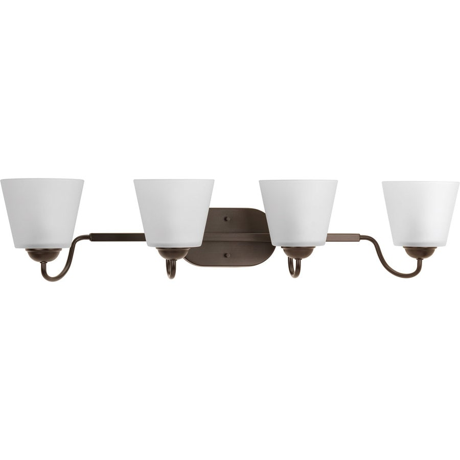 Progress Lighting Arden 4-Light 7.5-in Antique Bronze Bell Vanity Light