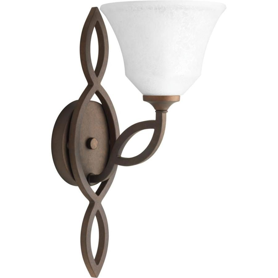 Progress Lighting Monogram 6.875-in W 1-Light Roasted Java Arm Wall Sconce