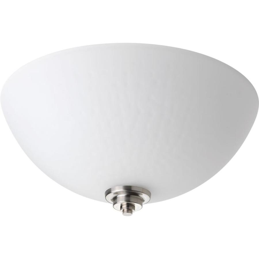 Progress Lighting Legend 14-in W Brushed Nickel Standard Flush Mount Light