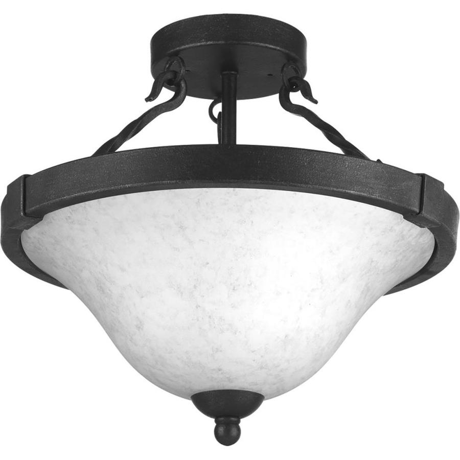 Progress Lighting Enclave 15-in W Gilded iron Textured Semi-Flush Mount Light