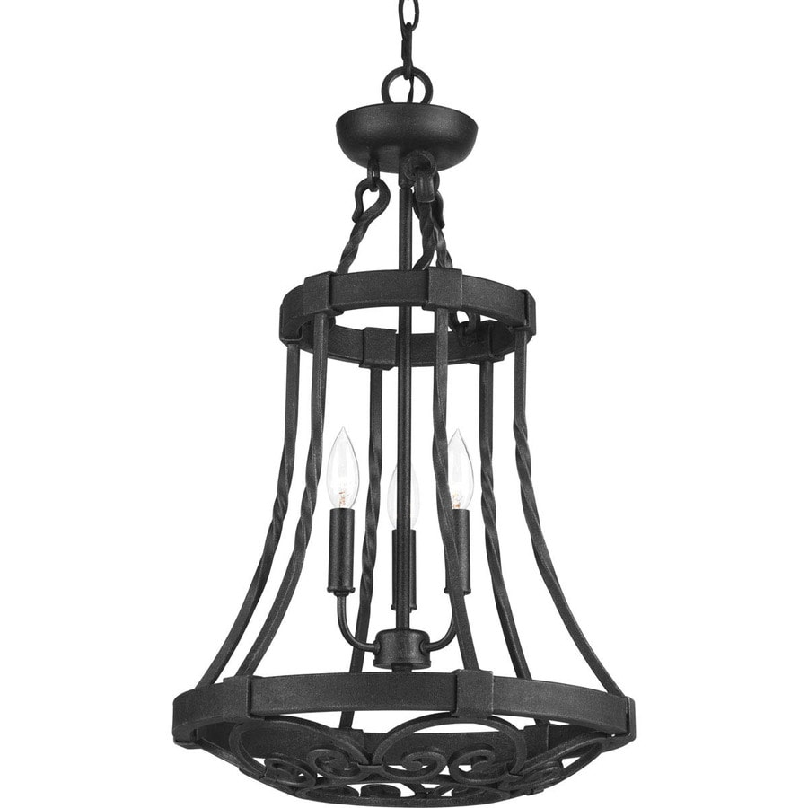 Progress Lighting Enclave 16-in 3-Light Gilded iron Wrought Iron Shaded Chandelier
