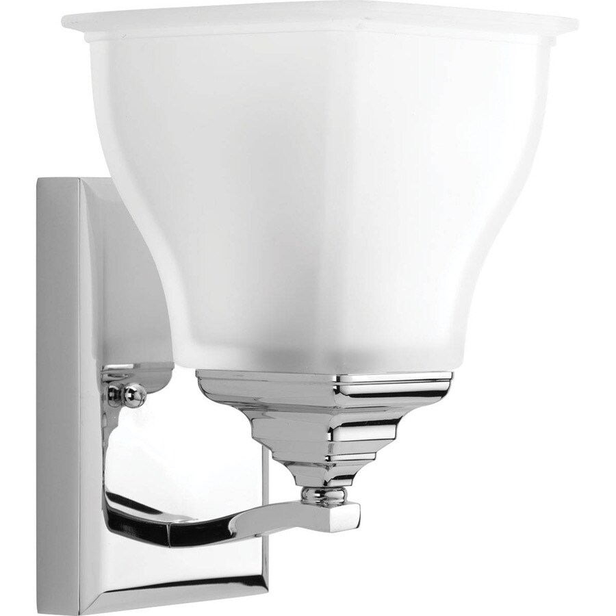 Progress Lighting Callison 1-Light 9-in Polished Chrome Square Vanity Light