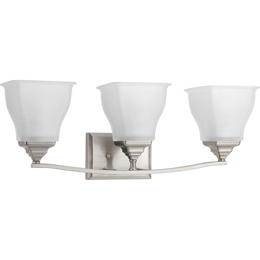 Progress Lighting Callison 3-Light 9-in Brushed Nickel Square Vanity Light