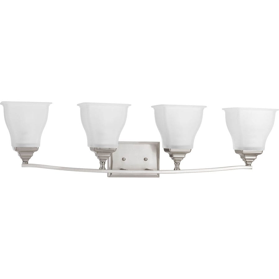 Progress Lighting Callison 4-Light 9-in Brushed Nickel Square Vanity Light