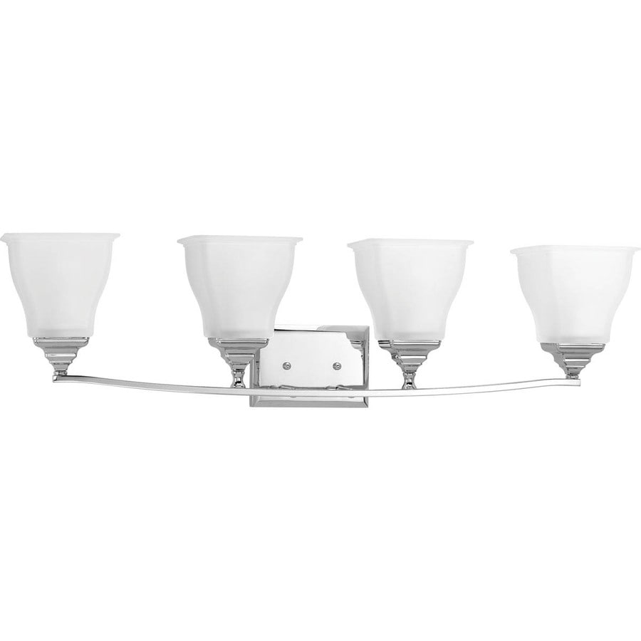Progress Lighting Callison 4-Light 9-in Polished Chrome Square Vanity Light