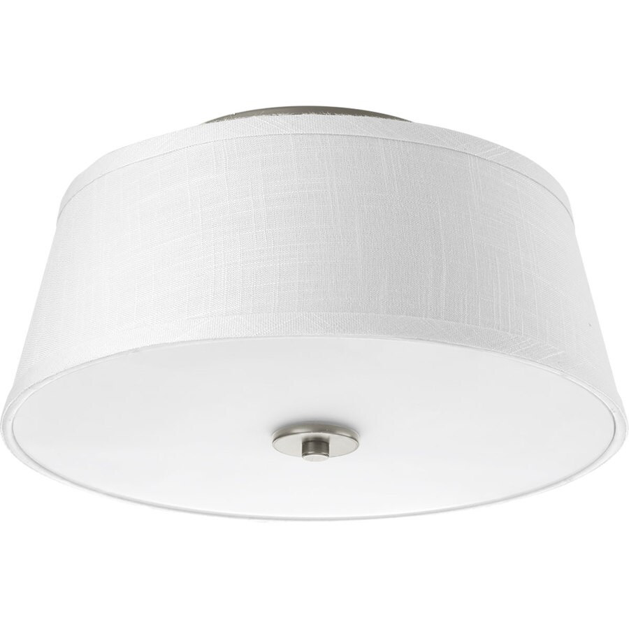 Progress Lighting Arden 14-in W Brushed Nickel Ceiling Flush Mount Light