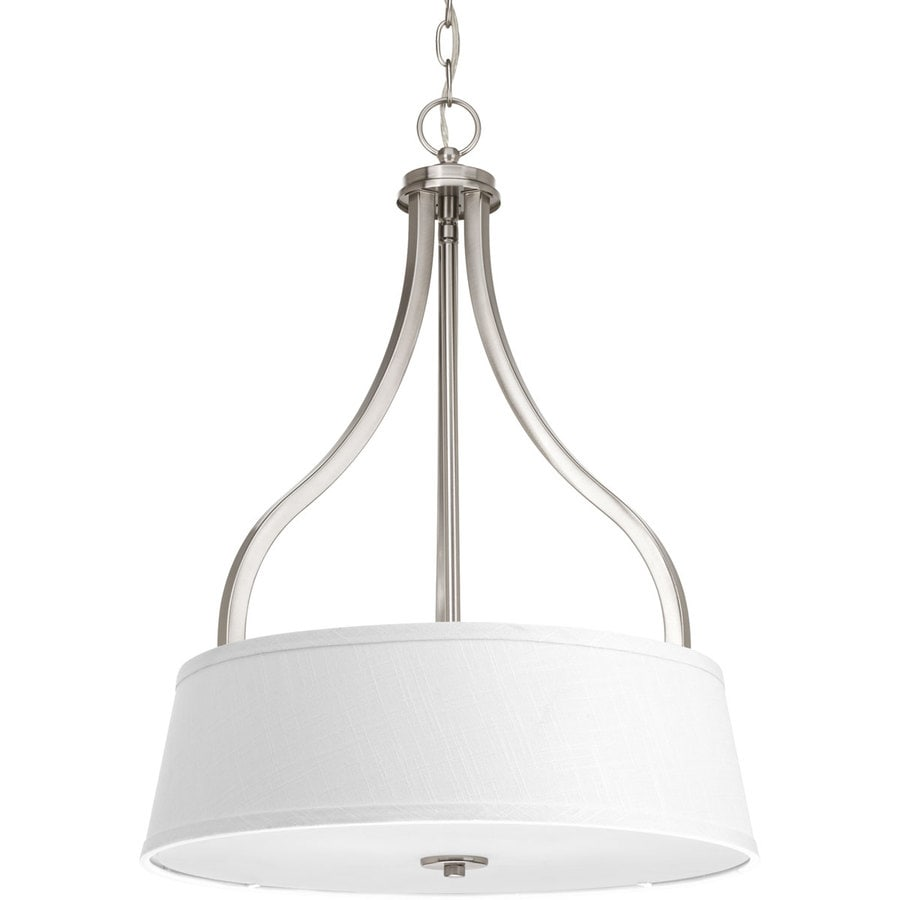 Progress Lighting Arden 18.125-in 3-Light Brushed nickel Shaded Chandelier