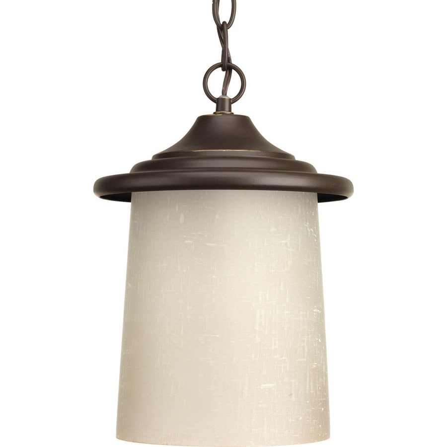Progress Lighting Essential 11.5-in Antique Bronze Outdoor Pendant Light