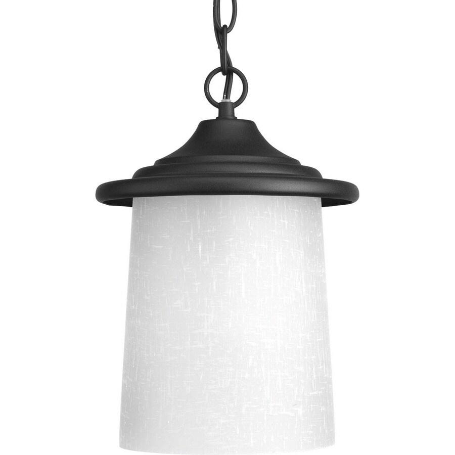 Progress Lighting Essential 11.5-in Black Outdoor Pendant Light