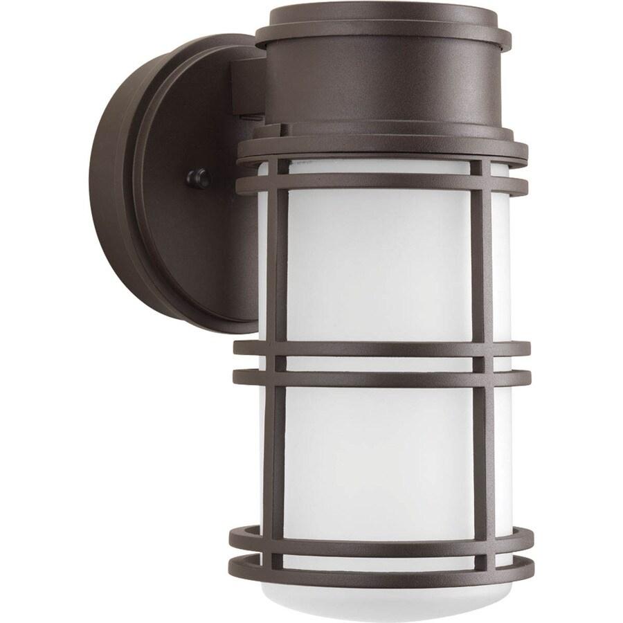Progress Lighting Bell 10.625-in H Led Antique Bronze Outdoor Wall Light ENERGY STAR