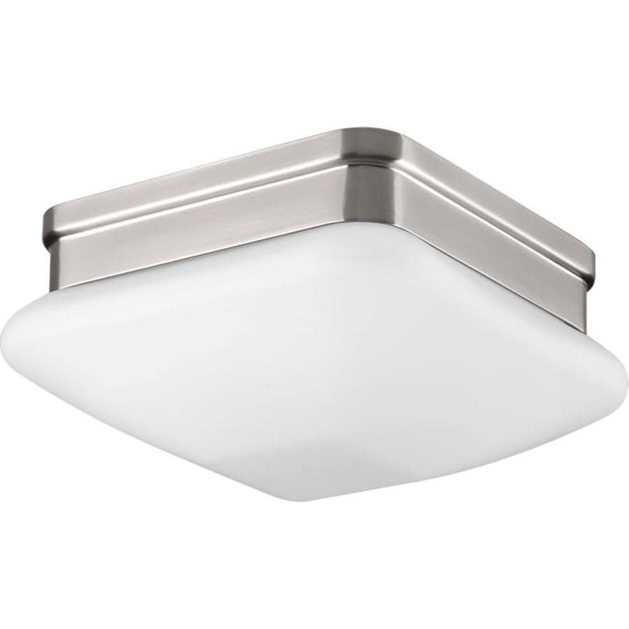 Progress Lighting Appeal 7.5-in W Brushed nickel Flush Mount Light