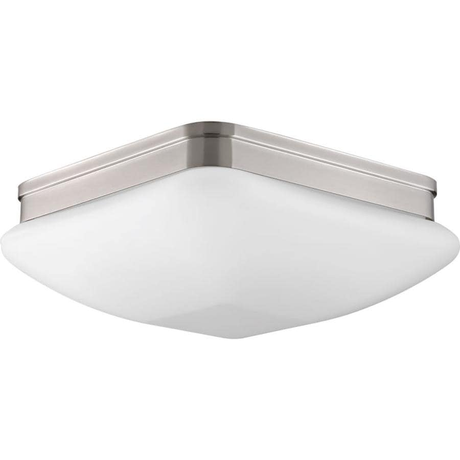 Progress Lighting Appeal 13-in W Brushed Nickel Standard Flush Mount Light